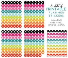FREE Ready-to-Print Planner Stickers {newsletter subscription required}