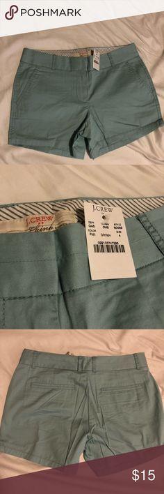 NEW J.Crew Chino Shorts Brand new teal Chino Shorts J. Crew Shorts