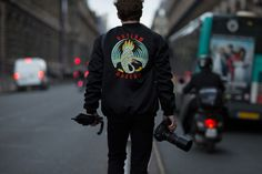 http://chicerman.com  billy-george:  Outlaw Moscow  Spotted at Paris Fashion Week  Photo by Eva Al Desnudo  #streetstyleformen