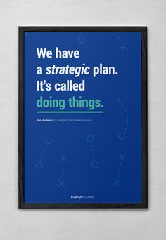 Startupvitamins posters on Behance // Stop talking about that thing you're gonna do and just freakin do it already.
