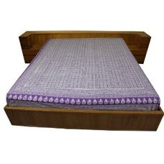 Drap violet fait main à Jaipur - Linge de lit en coton 218 x 264 cm: Amazon.fr: Cuisine & Maison