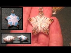 Beading4perfectionists : Beaded 3D Christmas star ornament or pendant beading tutorial