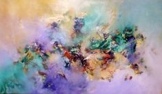 """""""Susurro alado"""" - Gabriela Winicki - Acrílico sobre tela - 50 cm x 100 cm - www.esencialismo.com"""