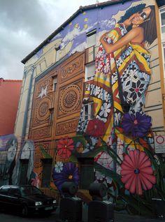 Muro pintado. Vitoria.