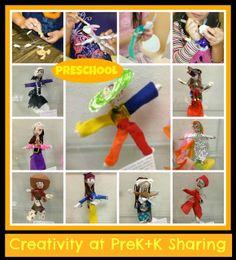 photo of: Creative Figure Study: Doll Making in Head Start Classroom via PreK+K Sharing