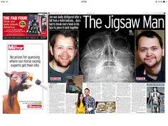 Daily Mirror spread by Newsteam reporter
