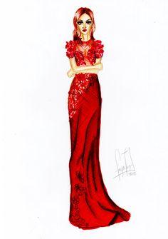 Oscar dress 2015 | Giuliana Rancic | by: Fayci Tage