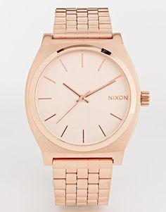 Image 1 ofNixon Time Teller Rose Gold Watch