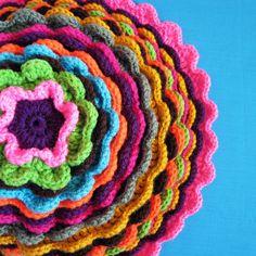 Blooming Flower Pillow - Progress #2 by Yadiris2809, via Flickr