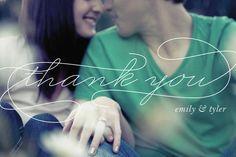 Dankeskarte Hochzeit mit großflächigem Bild