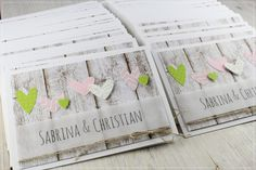 Hochzeitskarten apfelgrün-rosa.............