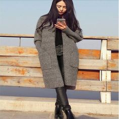 Open Stitch Long Knitted Womens Cardigan | Daisy Dress for Less | Women's Dresses & Accessories