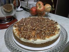 Caramel Pecan Apple Cheesecake