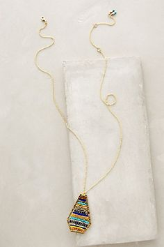 Striated Pendant Necklace #anthropologie