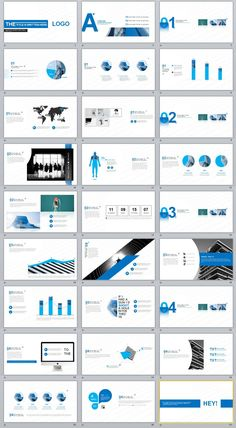 27+ Blue creative charts PowerPoint template #powerpoint #templates #presentation #animation #backgrounds #pptwork.com #annual #report #business #company #design #creative #slide #infographic #chart #themes #ppt #pptx