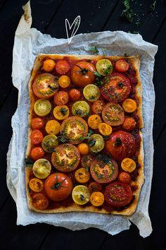 Recept: Tomaten plaattaart | The Green Happiness