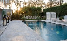 fun pool and cabana area :) desire to inspire - desiretoinspire.net - East Hampton dreaming
