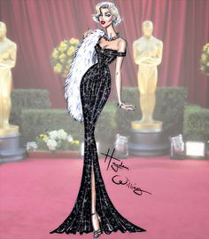 Hayden Williams Fashion Illustrations: Golden Age Glamour by Hayden Williams: Marilyn Monroe