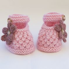 Hand Knitted Baby Shoes-Booties £5.00