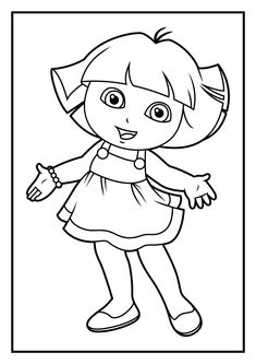 Dora The Explorer Coloring Pages Free Online Printable Sheets For Kids Get Latest Images