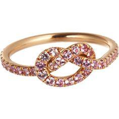 Finn Pink Sapphire Love Knot Ring