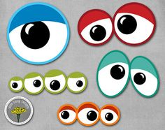 Monster Eyes Photo Props Printable Instant by yamdaisydesigns