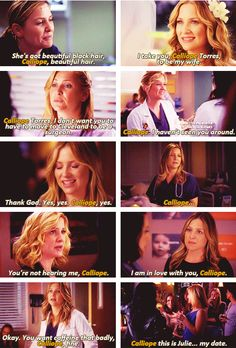 """When Arizona says """"Calliope."""" Probably the part I miss most of when they were together"""