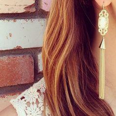Kendra Scott Erin Long Earrings in White. Coming soon!