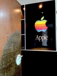 "Entrance to our house ""Apple Home"" Apple Home, Tech Logos, Entrance, Chrome, Neon Signs, Retro, House, Entryway, Home"