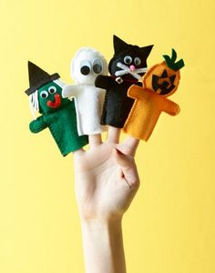 Free Project   Halloween Finger Puppets