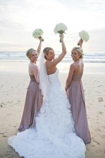 Ombré bridesmaid dresses In mocha