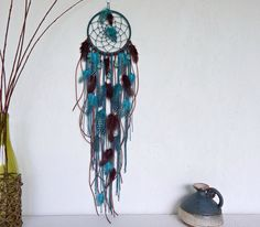 Dream Catcher Wall Hanging - Dreamcatcher - Boho Decor - Bohemian Decor - Dream Catcher With Feathers