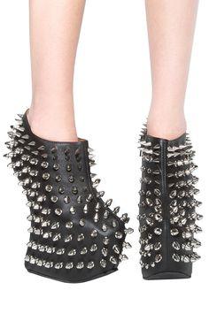 Jeffrey Campbell Shadow Shoe in Black/Silver Grrrrrrrrrr!!