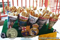 Mesa dulce fútbol Papas fritas de galleta - Soccer Sweet table cookies