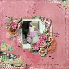 A Fine Special Edition - October 2014 Limited Edition kit from MyCreativeScrapbook kit Prima - Coffee Break Collection