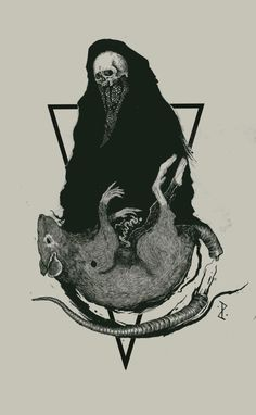 scary Illustration death Black and White creepy artwork monochrome ...