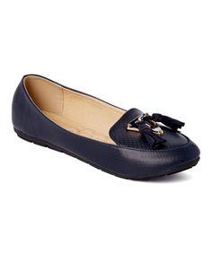 Navy Tassel Loafer Ballet Flat
