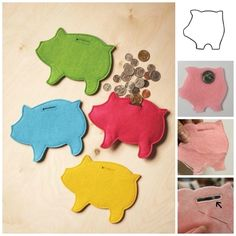 DIY felt piggy bank