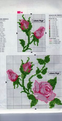 This Pin was discovered by Юля Cross Stitch Boards, Cute Cross Stitch, Cross Stitch Rose, Cross Stitch Flowers, Cross Stitch Designs, Cross Stitch Patterns, Cross Stitching, Cross Stitch Embroidery, Embroidery Patterns