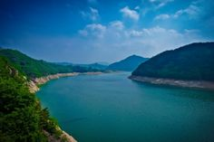 Cheongpung Lake in Jecheon, South Korea.