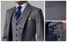 Gray three piece suit Wedding Suits 6ab7266dba68