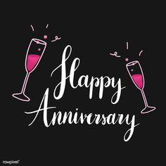 Happy Anniversary Friends, Happy Anniversary Photos, Anniversary Quotes, Wedding Anniversary, Happy Anniversay, Classroom Quotes, Free Illustrations, Black Backgrounds, Wallpaper Backgrounds