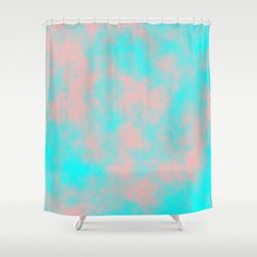 Cotton Candy Clouds - Pink & Blue Shower Curtain #showercurtain #cottoncandy #clouds #pink #blue #society6