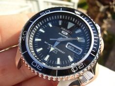 My SKX007 Planet Ocean mod with Seiko 5 dial