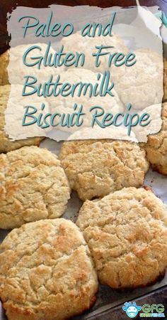 Paleo and Gluten Free Buttermilk Biscuit Recipe http://www.grassfedgirl.com/paleo-gluten-free-buttermilk-biscuit-recipe/