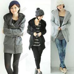 Zip up long top hoodie coat jacket