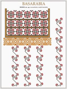 Folk Embroidery, Embroidery Stitches, Embroidery Patterns, Knitting Patterns, Cross Stitch Borders, Cross Stitch Flowers, Cross Stitch Patterns, Romanian Lace, Palestinian Embroidery