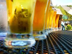 Blue Mountain Brewery beer flights - try them all to find your favorite