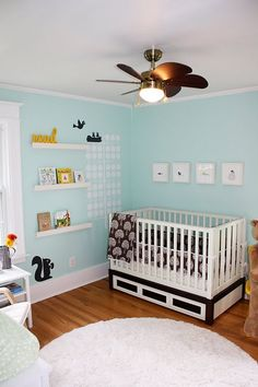 Featured Nursery – gender Neutral, Benjamin Moore #618- Robin's Nest