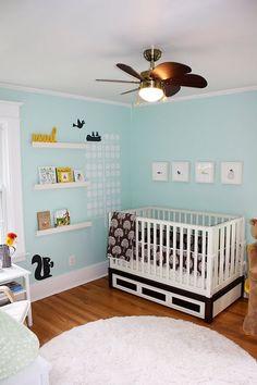 Featured Nursery – gender Neutral, Benjamin Moore #618- Robin's Nest